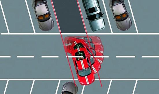 斜线停车技巧图解